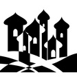 eastern city vector image