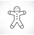 White gingerbread man vector image