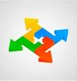 3d arrows figure vector image