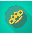 Brass knuckles flat color icon vector image