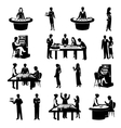 People In Casino Black vector image