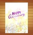Happy anniversary card Watercolor flower vector image