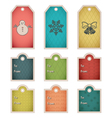 Winter holiday gift tag template vector image