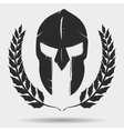 Gladiator helmet with laurel wreath vector image