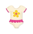 Baby suit clothes vector image