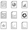 chart icon set vector image