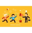 Crowd funding concept vector image