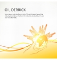Oil derricks vector image