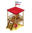 rescue tower with all equipment isolated vector image
