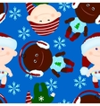 seamless background baby kid christmas vector image