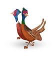 turkeys walking cartoon characters vector image
