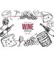 wine shop frame vector image