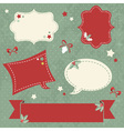 Winter design Christmas sale stickers and tags vector image