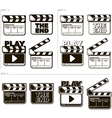 Movie black and white clapper boards vector image