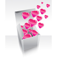gray box with hearts vector image