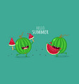 Fruit on a bicycle vector image