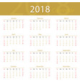 2018 calendar popular premium for business vector image