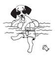Cartoon Comic of Dog vector image