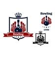 Bowling club emblem or symbol vector image vector image
