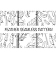 Vintage seamless hand sketched Doodle Pattern vector image