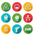 Child safety Icons Set vector image
