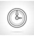 Wall clock flat line icon vector image
