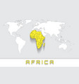 africa on the map vector image