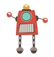 Colorful robot character vector image