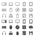 Computer icons thin vector image
