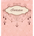 Invitation vintage card vector image