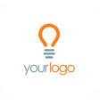 light bulb logo vector image