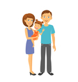 Mother and father with baby Happy family vector image