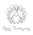 Thanksgiving turkey vector image