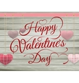 Valentines day toy hearts hanging on rope EPS 10 vector image