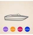 yacht icons vector image
