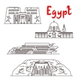 Historic landmarks and sightseeings of Egypt vector image vector image