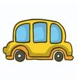 Yellow car cute vector image