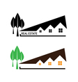 house and tree on white background vector image