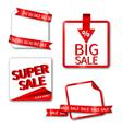 Set of Sale Sticker or Label Vector Image
