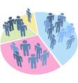people statistics population data pie chart vector image