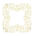 Gold Autumn Frame vector image