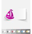 realistic design element sailing boats vector image