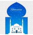 Mosques silhouette on blue night background vector image