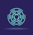 Abstract circle segments sign Construction logo vector image