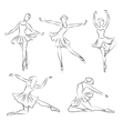 Beautiful ballerina hand drawn vector image