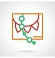 Color simple line paper garland icon vector image