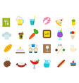 Diner isolated icons set vector image