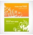 Doodle business cards set vector image