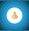 isolated piggy bank flat icon money box vector image