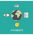 Payments vector image